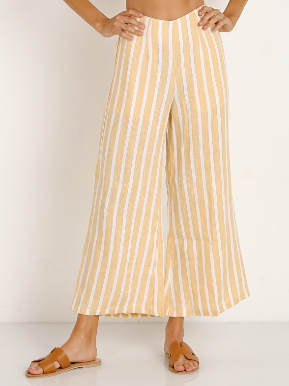 Faithfull the Brand Tomas Pant Mazur Stripe Lemon