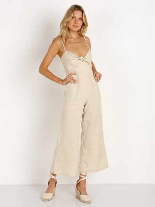Model in plain bone Faithfull the Brand Presley Jumpsuit