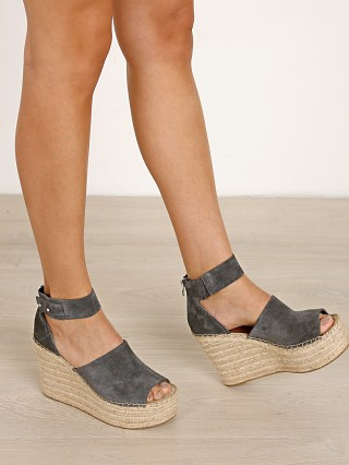 Dolce Vita Straw Espadrille Wedge Anthracite