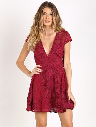For Love & Lemons Sienna Mini Dress Scarlet