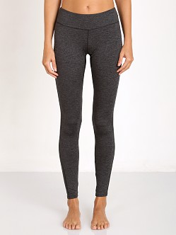 SOLOW Contrast Inseam Space Dye Legging Charcoal
