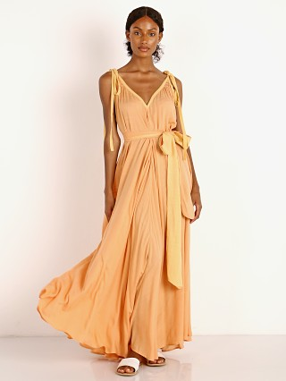 Model in sunset Indah Vivian Goddess Maxi
