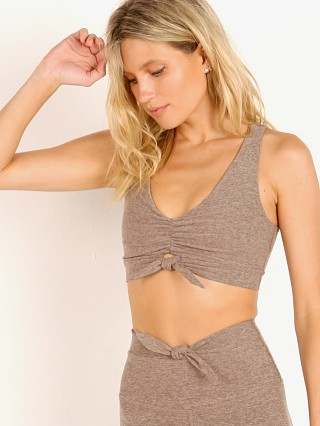 Beyond Yoga Spacedye Knot A Problem Bralet Mocha Latte