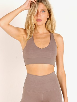 Beyond Yoga Remix Rib Bralet Mocha Heather