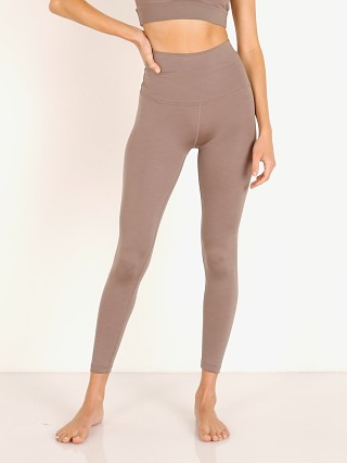 Beyond Yoga Rib High Waisted Midi Legging Mocha Heather