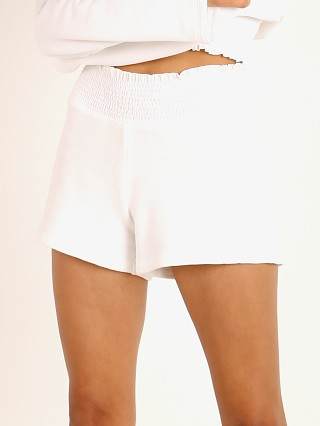 Beyond Yoga Let's Smock About It Short White