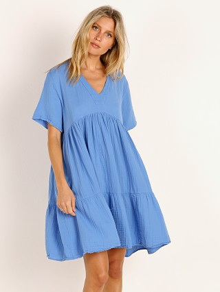 9seed El Matador Short Sleeve Tier Dress Moroccan Blue