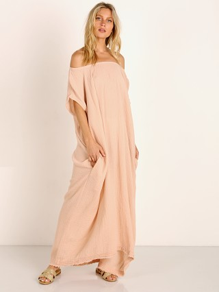 9seed Moonstone Off Shoulder Caftan Dusty Rose