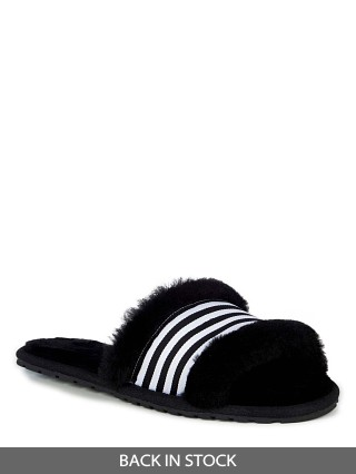 Model in black EMU Australia Wrenlette Slipper