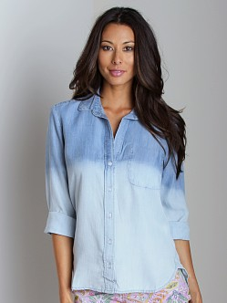 Bella Dahl Dip Dyed Tail Button Down Shirt Dipped
