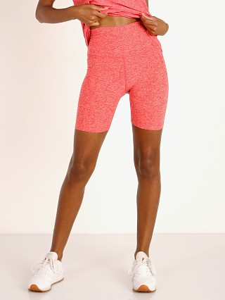 Beyond Yoga Spacedye High Waisted Biker Short Raspberry Peach Fu