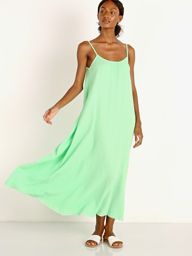 Model in electric lime Nation LTD Lila Scoop Trapeze Slip
