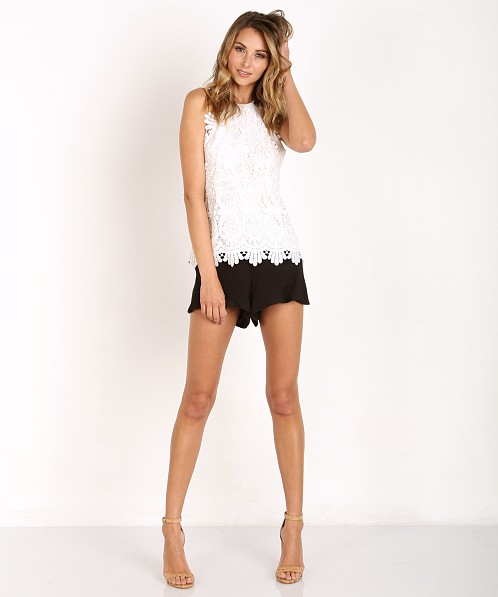 Stone Cold Fox Rival Tank White Lace