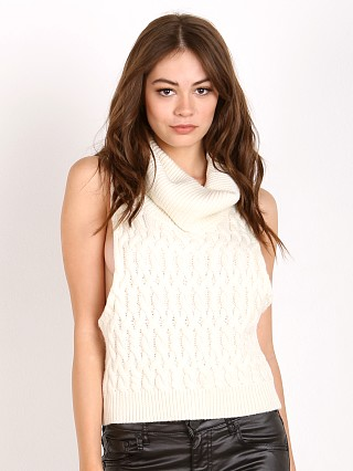 One Teaspoon Parisienne Nights Cable Knit Creme
