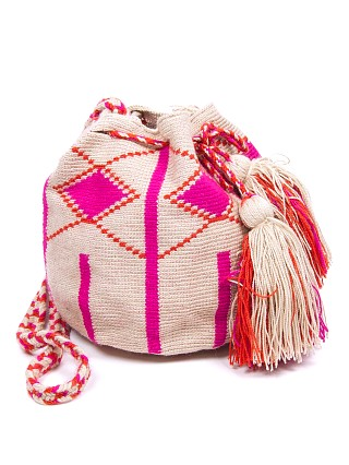 Guanabana Medium Wayuu Bag Pink/Orange