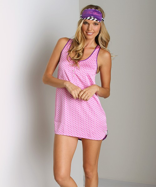 Juicy Couture Dot & Stripe Sleep Set Pink Cerise