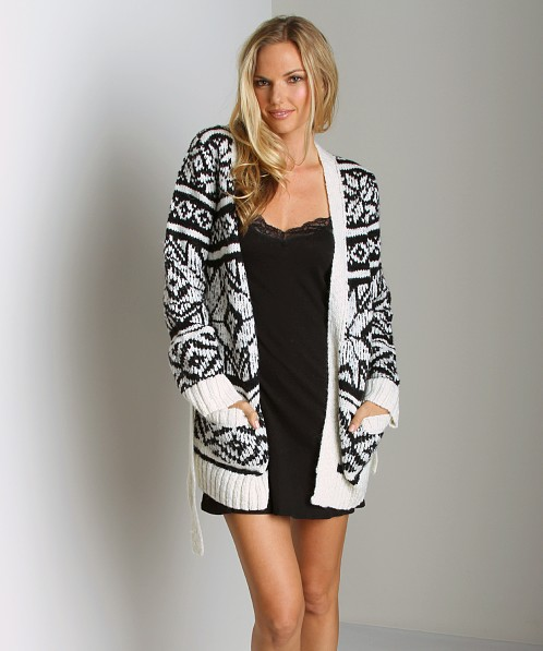 Juicy Couture Nordic Robe Black/Angel