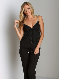 Juicy Couture Modal With Lace Camisole Black
