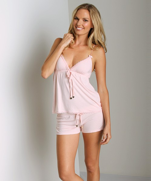 Juicy Couture Modal With Lace Camisole Pedal Pink