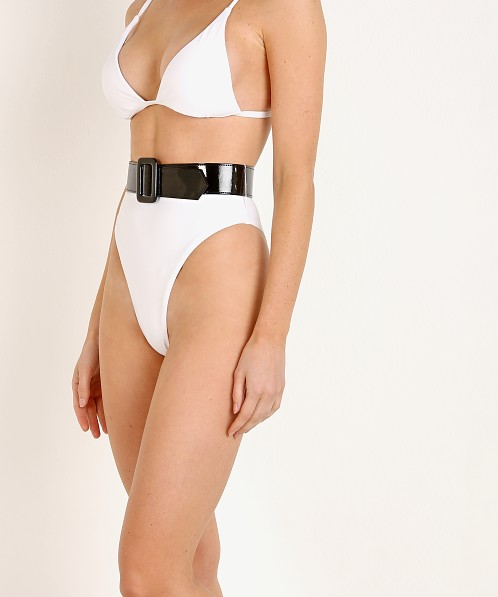 GIGI C bikinis Jamie Bottom White with Tricot Belt