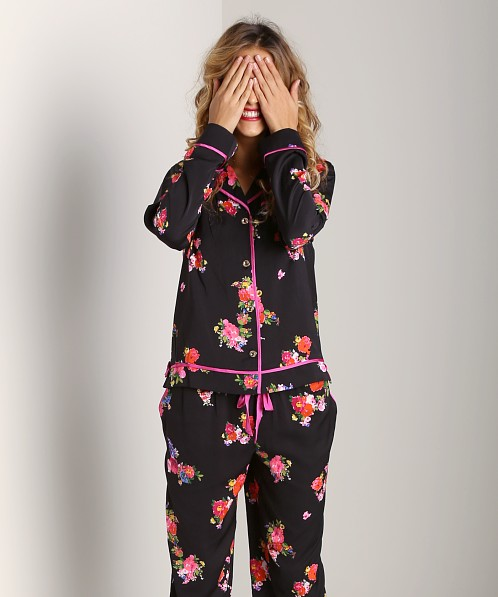 Juicy Couture Jazzy Floral PJ Top Black