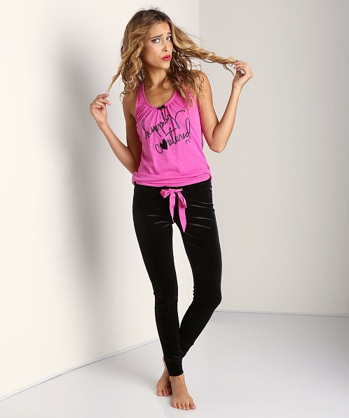 Juicy Couture Stretch Velvet Legging Pitch Black