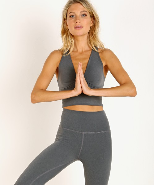 Beyond Yoga Plush Twist Around Cropped Tank Heather Grey