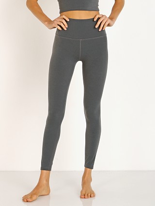 Beyond Yoga Plush High Waisted Midi Legging Heather Grey