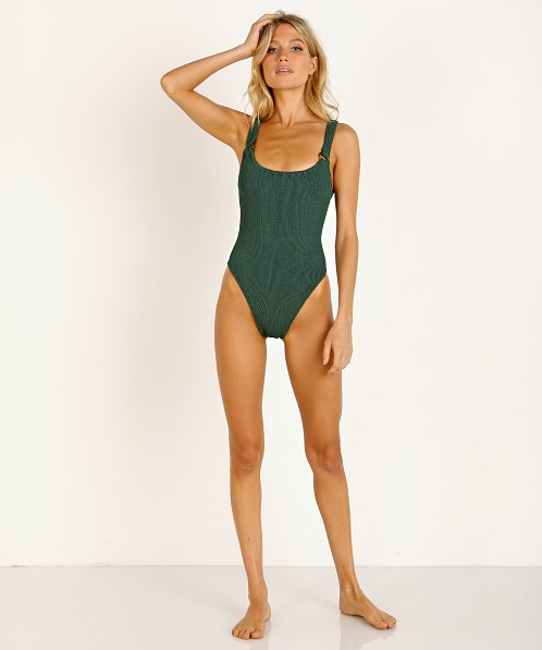 Hunza G Domino One Piece Forest Green