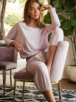 Complete the look: Eberjey Heather Cropped Pant Lavender Fog