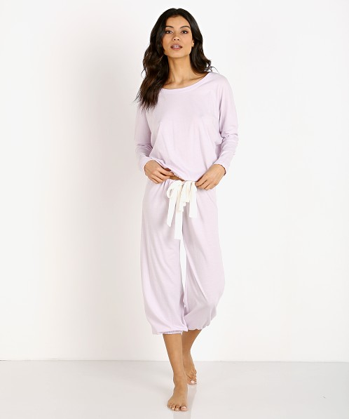 Eberjey Heather Cropped Pant Lavender Fog