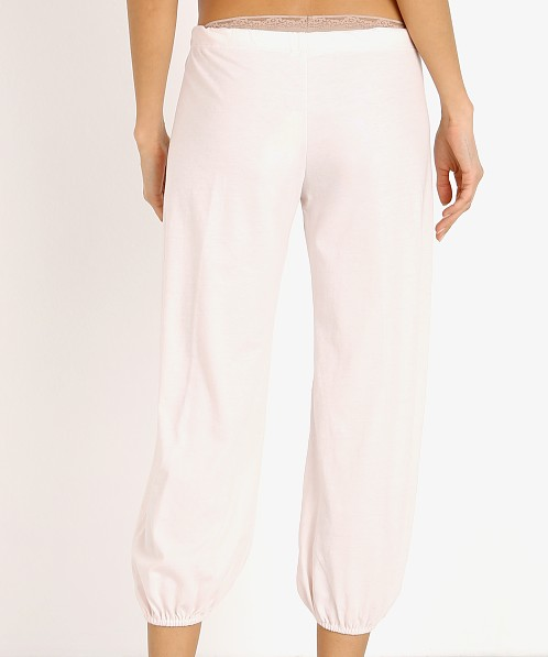 Eberjey Heather Cropped Pant Rosewater
