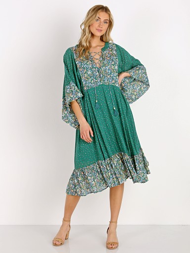 Auguste the Label Palm Springs Poolside Midi Dress Emerald
