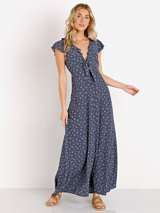 Auguste the Label Jasmine Petal Cutaway Maxi Dress Navy