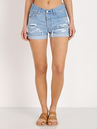 Levi's 501 Long Short Haze Blue