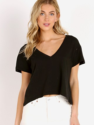 LNA Clothing Sparks V Neck Black