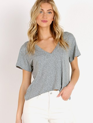 LNA Clothing Tri Blend Sparks V Neck Heather Grey