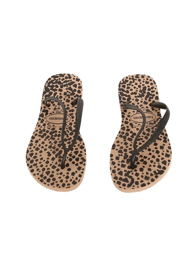 Havaianas Slim Animal Rose Gold/Black