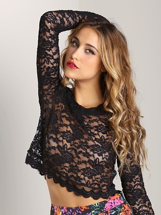 Show Me Your Cher Sweater Lancey Lace Black