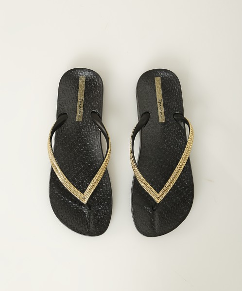 904412b290c5 Ipanema Ana Metallic Flip Flops Black + Gold 82526-20576 - Free Shipping at  Largo Drive