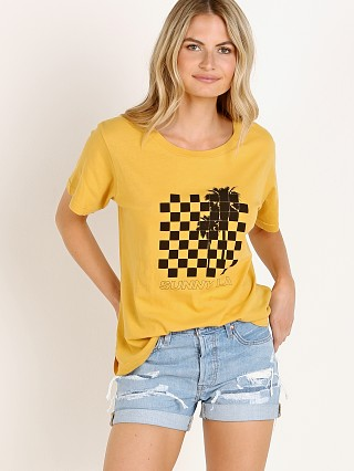Model in yellow All Things Fabulous Crew Neck Tee