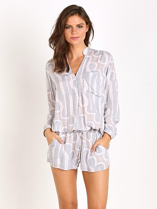 Indah Plateau Long Sleeve Romper Grey Zulu