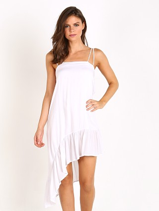 Indah Sierra Ruffle Dress White