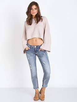 Indah Alta Hand Knit Oversized Cropped Sweater