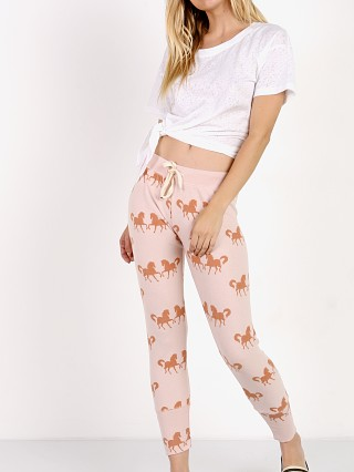 Model in rose All Things Fabulous Horses Skinny Sweats