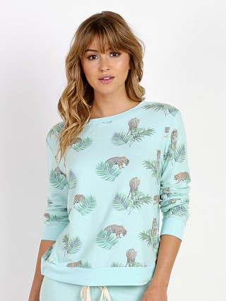 All Things Fabulous Tropical Tiger Cozy Sweater Ocean Blue