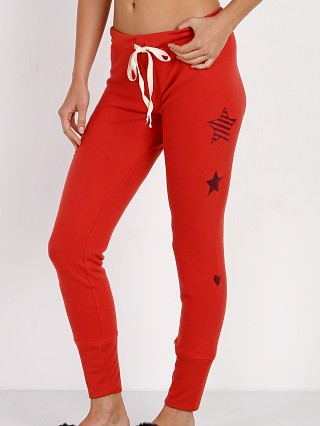 All Things Fabulous Stars Flock Skinnies Red