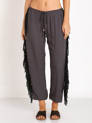 Complete the look: Indah Bohdi Sheen Fringe Side Drawstring Pant Slate