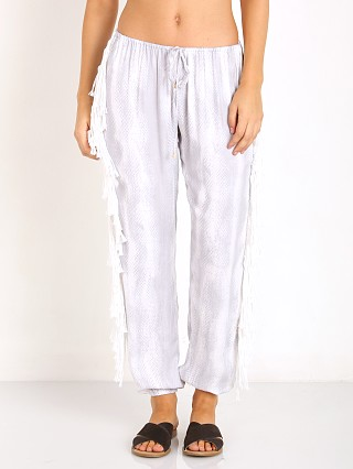 Indah Bohdi Sheen Fringe Side Drawstring Pant Grey Snake