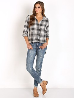 Bella Dahl Button Down Shirt Heather Grey